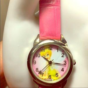 Disney white face pink bandit Tinker Bell watch